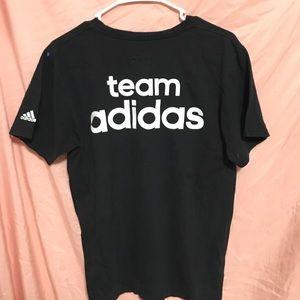 adidas Black Short Sleeve Tee 'Team Adidas' medium
